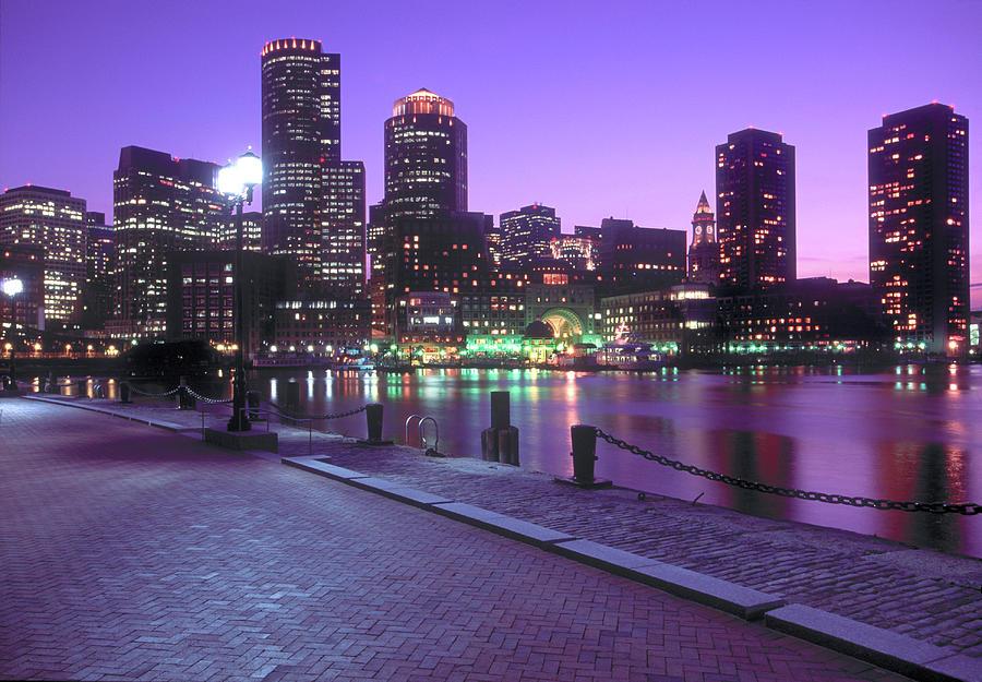 Nighttime Boston, Massachusetts Photograph by John Coletti