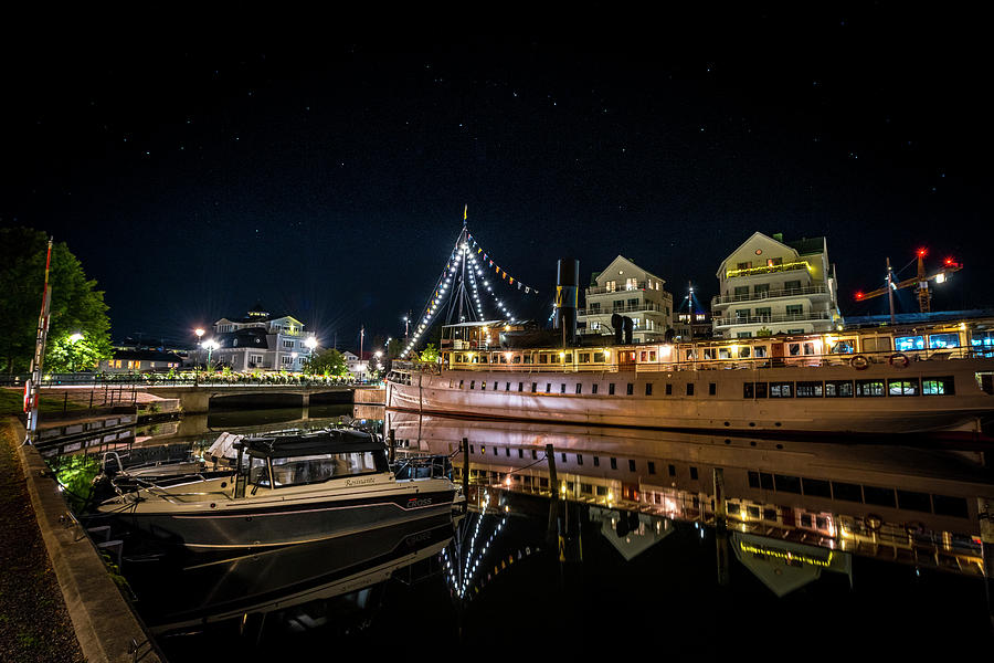 Nighttime in Norrtalje by David Morefield