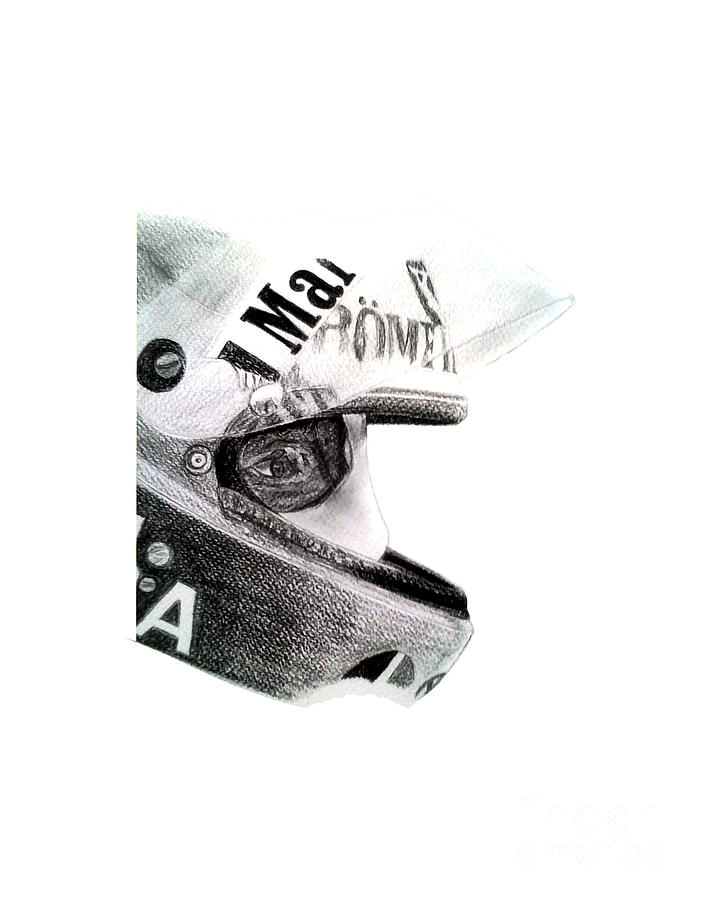 Niki Lauda Helmet Drawing By Ilias Art