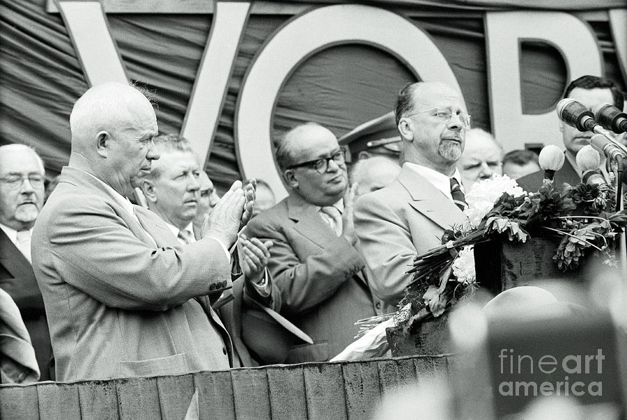 Nikita Khrushchev Applauding Walter Photograph by Bettmann