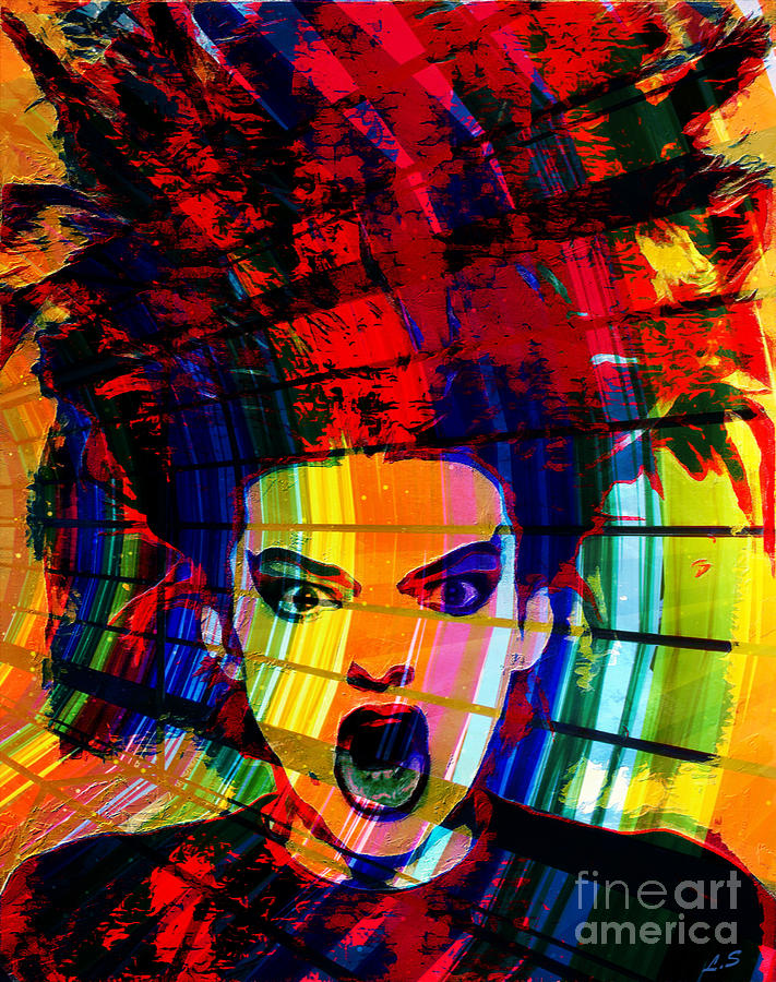 CANVAS German Punk Singer Nina Hagen Art print POSTER
