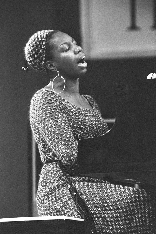 Nina Simone At Newport Jazz Photograph by Tom Copi
