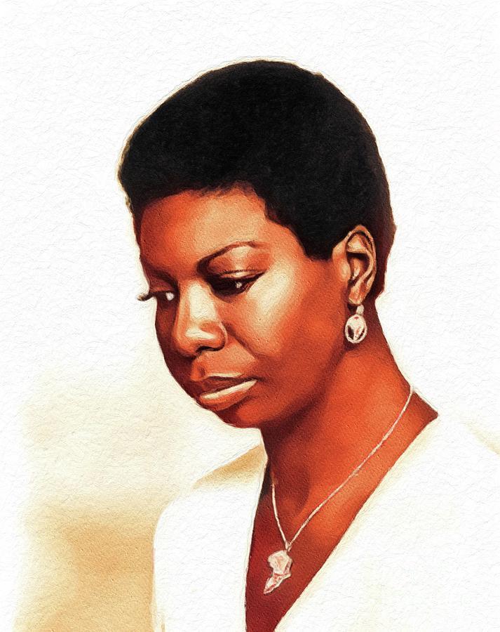 Nina Simone, Music Legend Painting