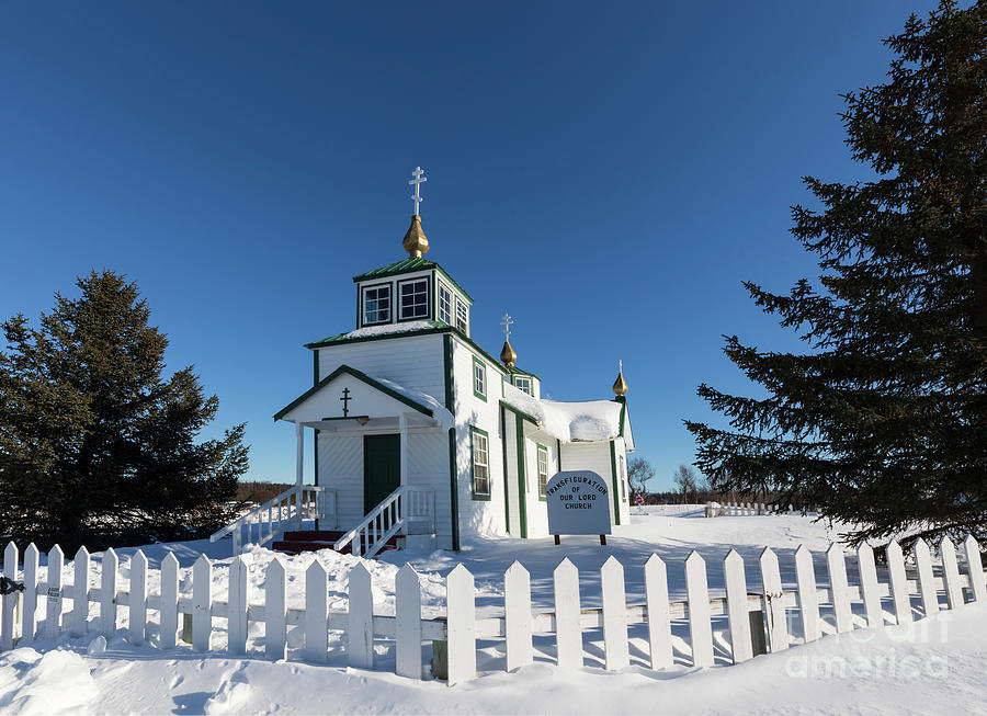 Aleut Photograph - Ninilchik Russian Orthodox Church by Louise Heusinkveld