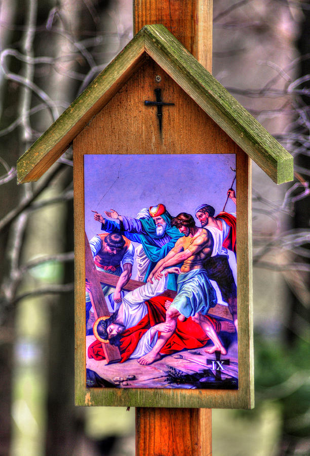 Ninth Station of the Cross - Jesus Falls for the Third Time by Michael Mazaika