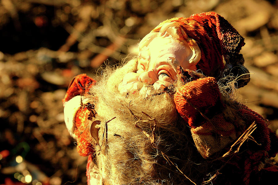New Orleans Photograph - Ninth Ward Series Number Three Ruined Santa Claus by Layne LoMaglio