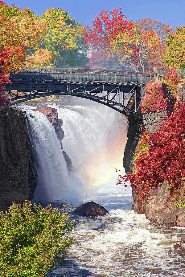 Paterson Falls Photograph - Nj Great Falls In Autumn by Regina Geoghan