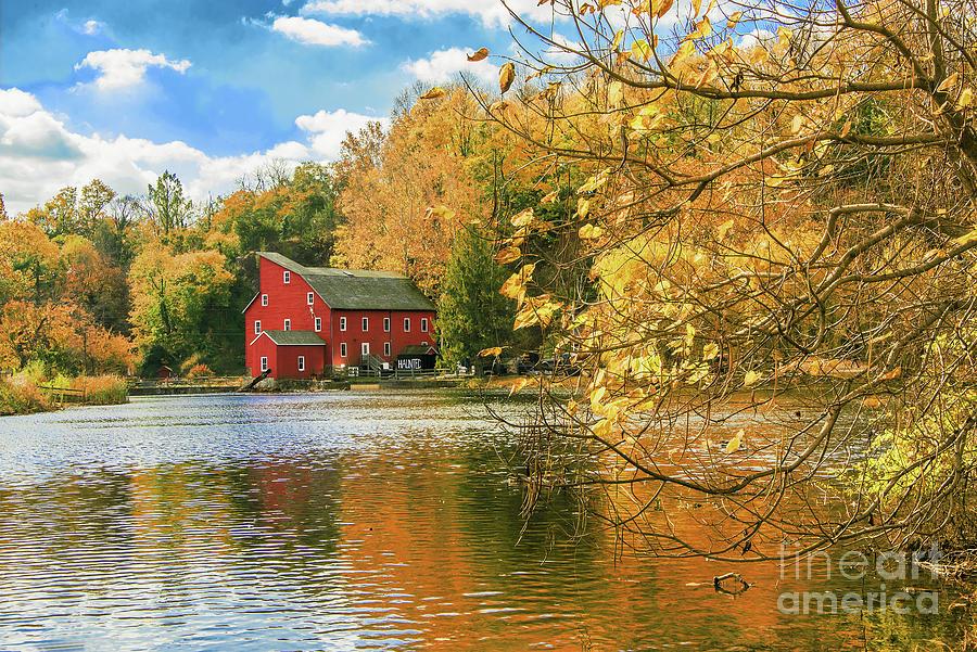N.J. Red Mill framed in Gold by Regina Geoghan