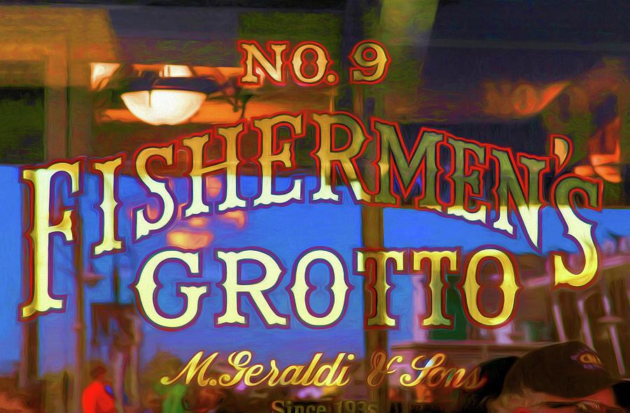 No. 9 Fishermens Grotto Window Signage by Bonnie Follett