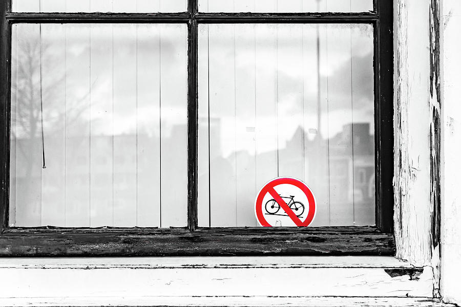 Holland Photograph - No Bikes by Framing Places