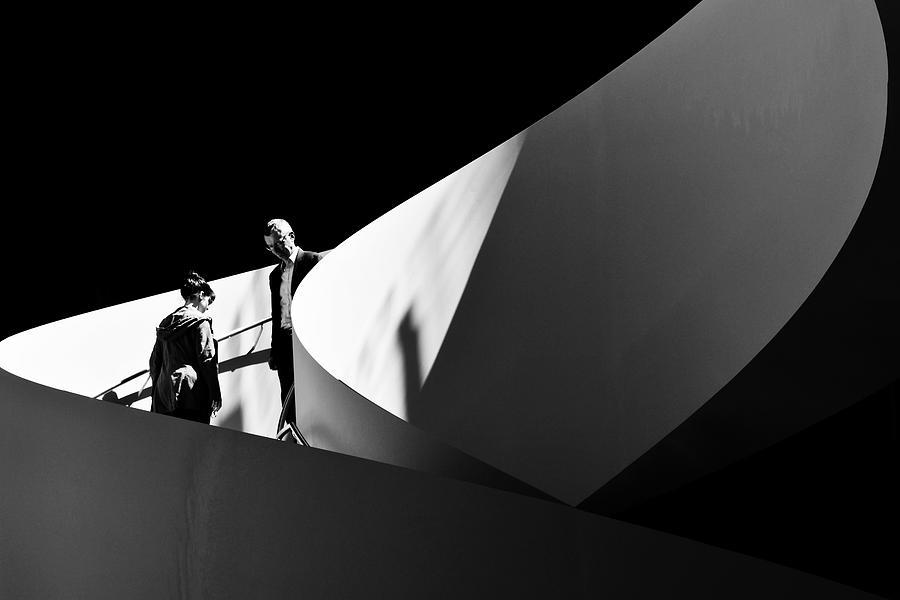 Architecture Photograph - No eye contact by Mihai Florea