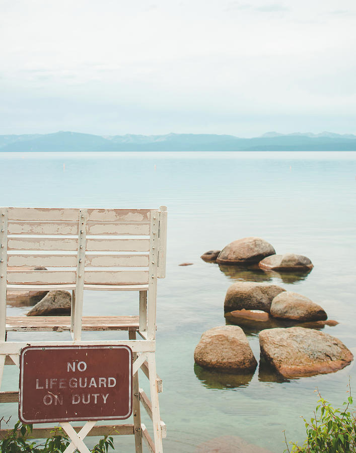 No Lifeguard Lake Tahoe by Sonja Quintero