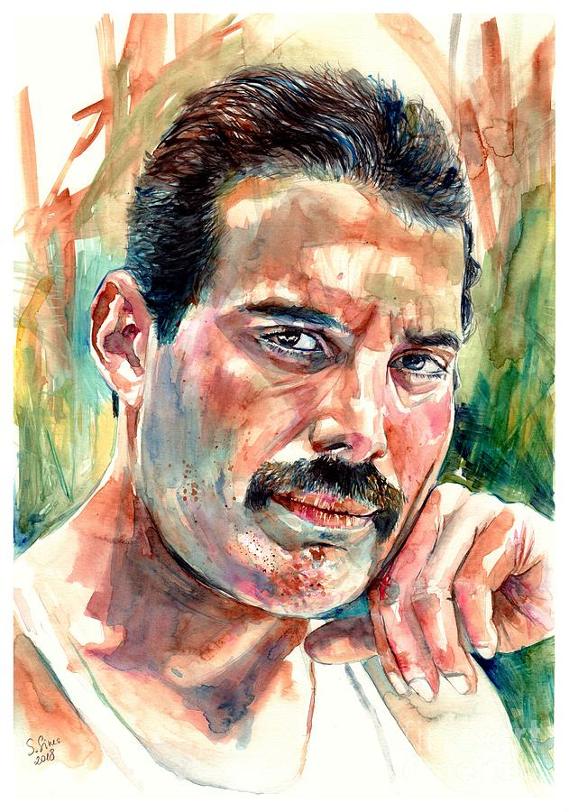 Freddie Mercury Painting - No One But You - Freddie Mercury Portrait by Suzann Sines