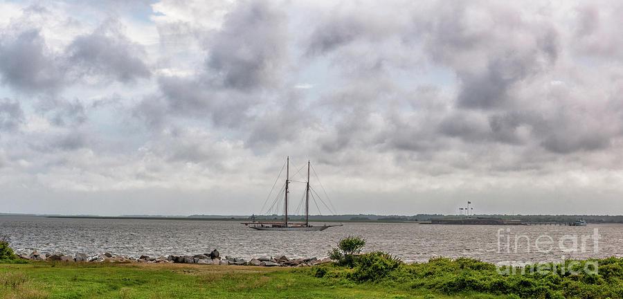 No Wind Coming Into Charleston Photograph