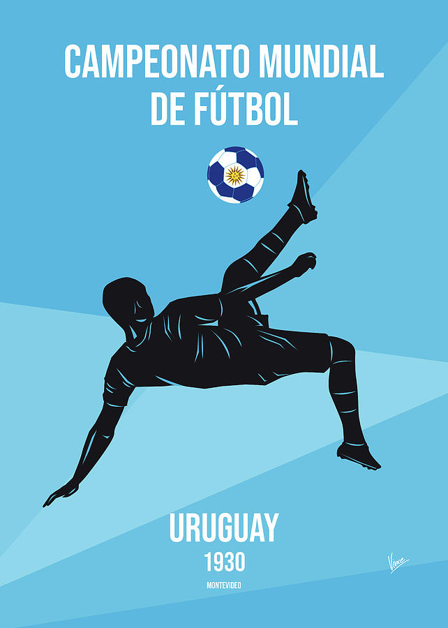 World Digital Art - No01 My 1930 Uruguay Soccer World Cup Poster by Chungkong Art