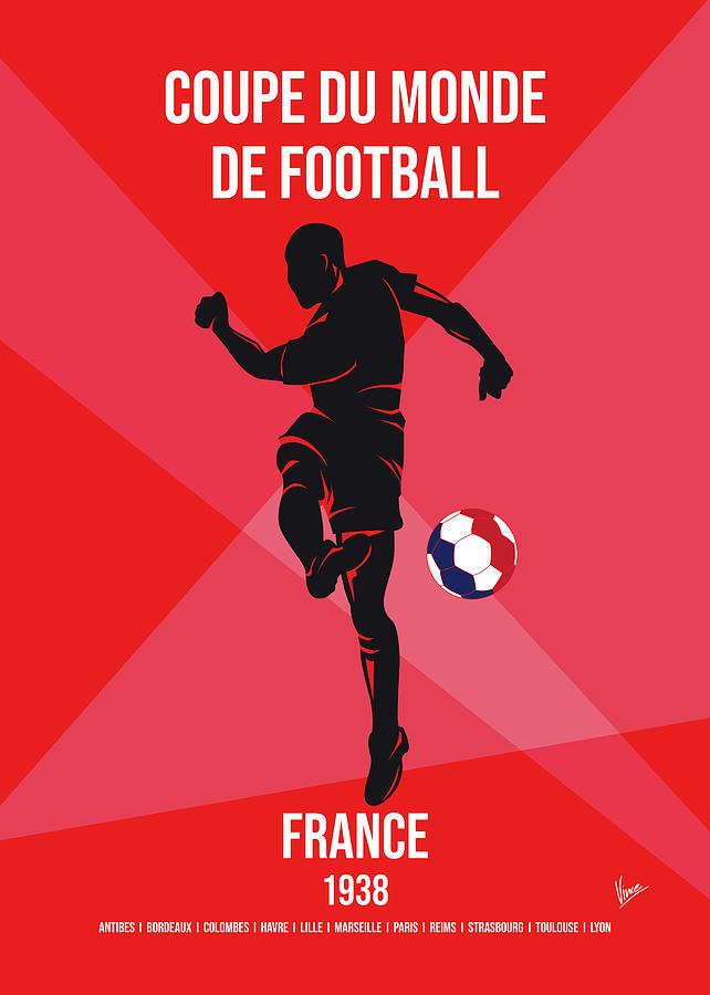 World Digital Art - No03 My 1938 France Soccer World Cup Poster by Chungkong Art