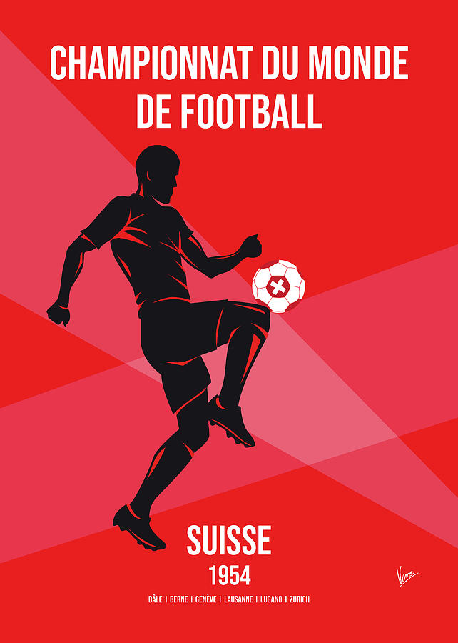 World Digital Art - No05 My 1954 Suisse Soccer World Cup Poster by Chungkong Art