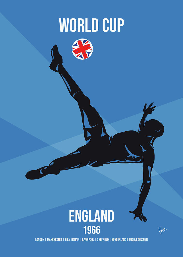 No08 My 1966 England Soccer World Cup poster by Chungkong Art