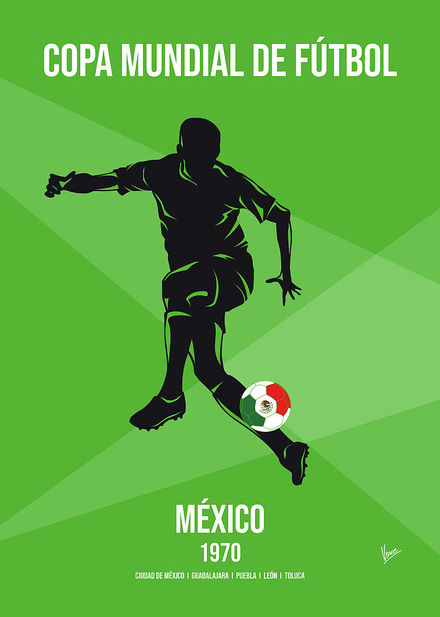 No09 My 1970 Mexico Soccer World Cup poster by Chungkong Art