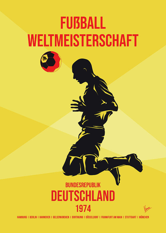 No10 My 1974 Germany Soccer World Cup poster by Chungkong Art