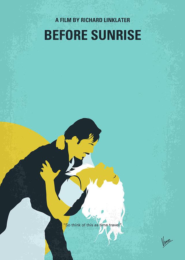 Before Digital Art - No1011 My Before Sunrise Minimal Movie Poster by Chungkong Art