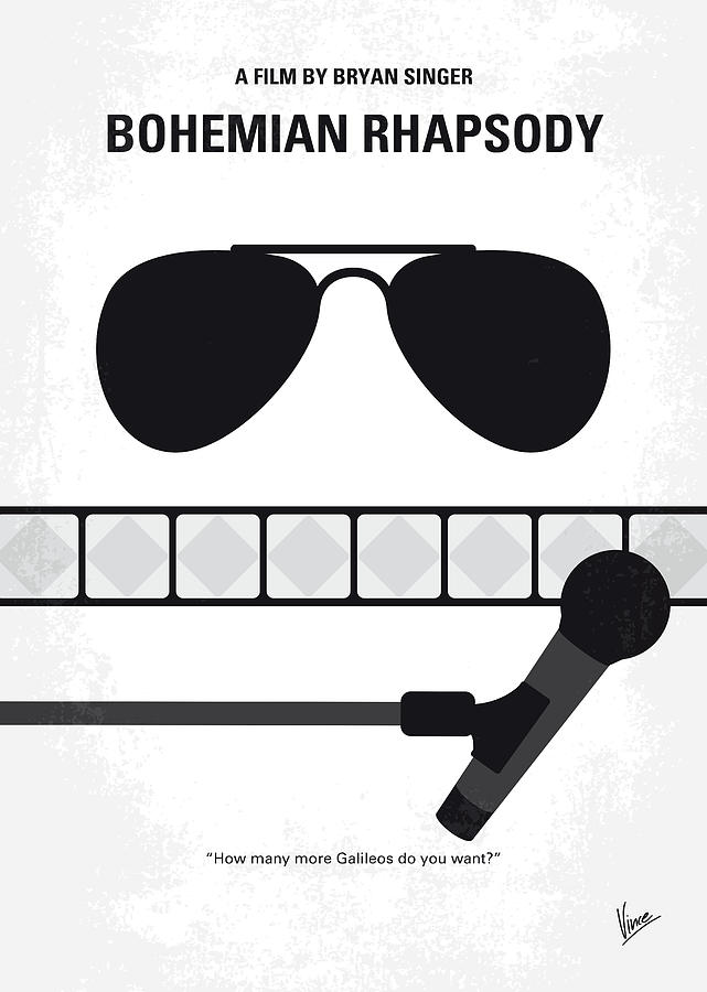 Bohemian Digital Art - No1038 My Bohemian Rhapsody Minimal Movie Poster by Chungkong Art