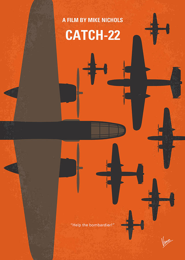 No1047 My Catch 22 minimal movie poster by Chungkong Art