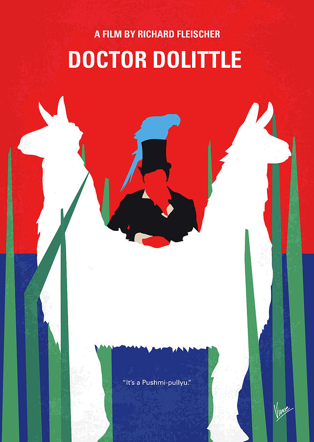 No1048 My Doctor Dolittle minimal movie poster by Chungkong Art