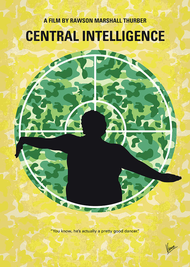 No1049 My Central Intelligence minimal movie poster by Chungkong Art