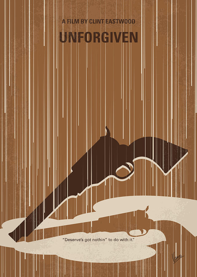 No1050 My UNFORGIVEN minimal movie poster by Chungkong Art