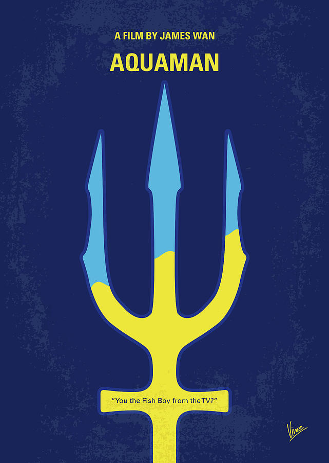 No1052 My AQUAMAN minimal movie poster by Chungkong Art