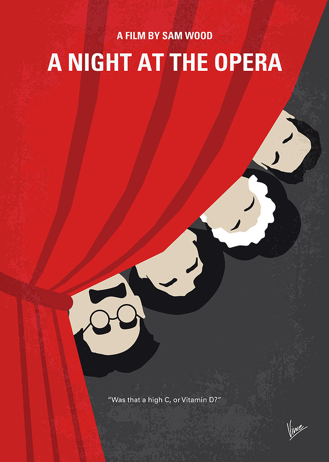 No1053 My A Night at the Opera minimal movie poster by Chungkong Art