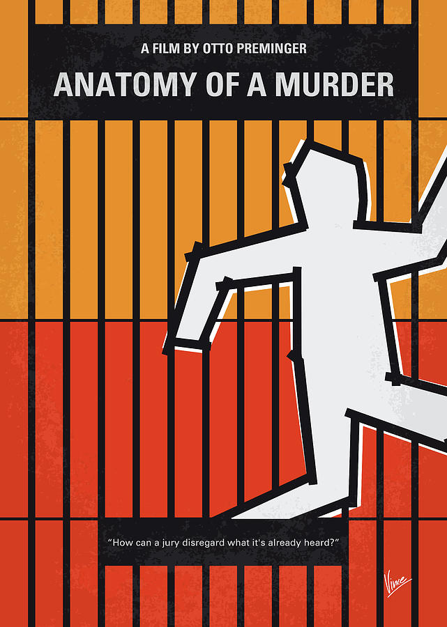 No1054 My Anatomy of a Murder minimal movie poster by Chungkong Art