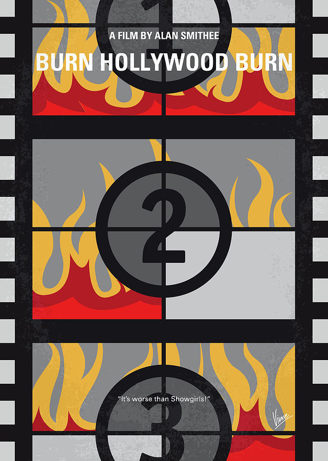 No1056 My Burn Hollywood Burn minimal movie poster by Chungkong Art