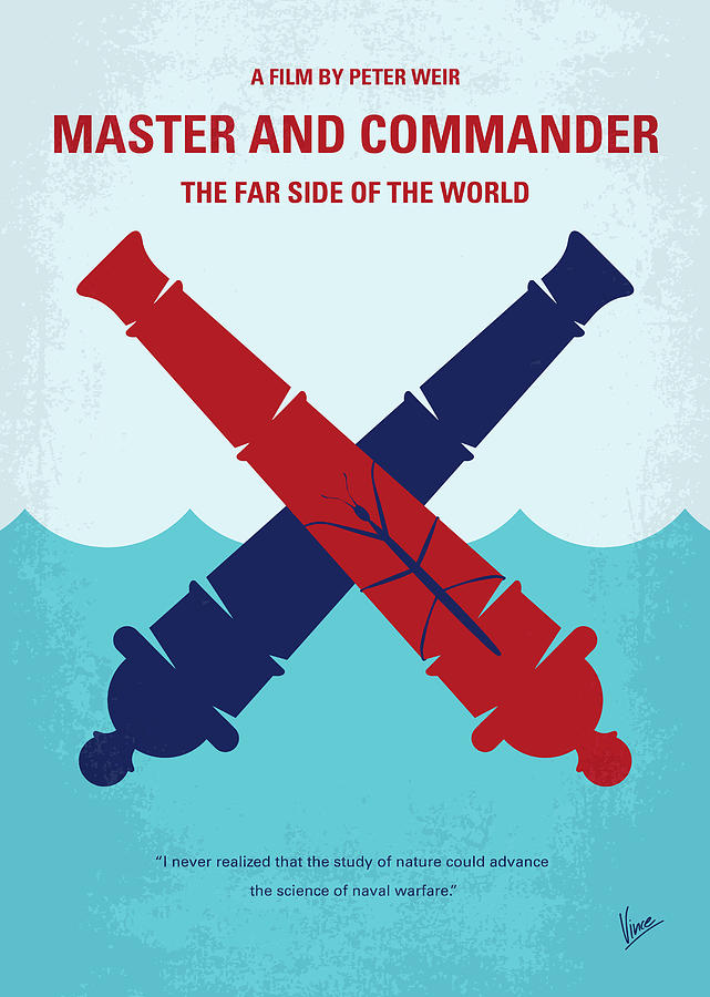 No1060 My Master and Commander minimal movie poster by Chungkong Art
