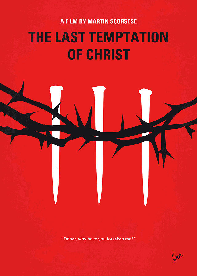 No1062 My The Last Temptation of Christ minimal movie poster by Chungkong Art