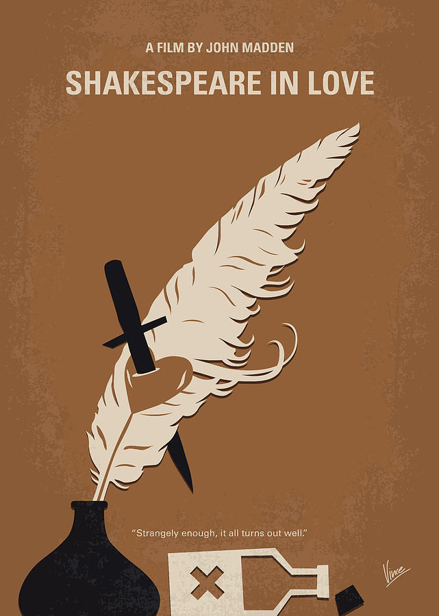 No1071 My SHAKESPEARE IN LOVE minimal movie poster by Chungkong Art