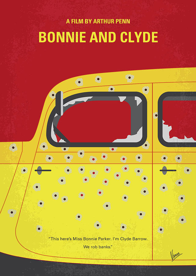 No1072 My Bonnie and Clyde minimal movie poster by Chungkong Art