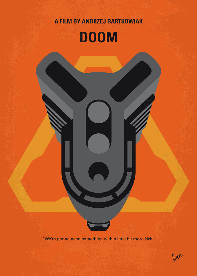 No1075 My Doom minimal movie poster by Chungkong Art