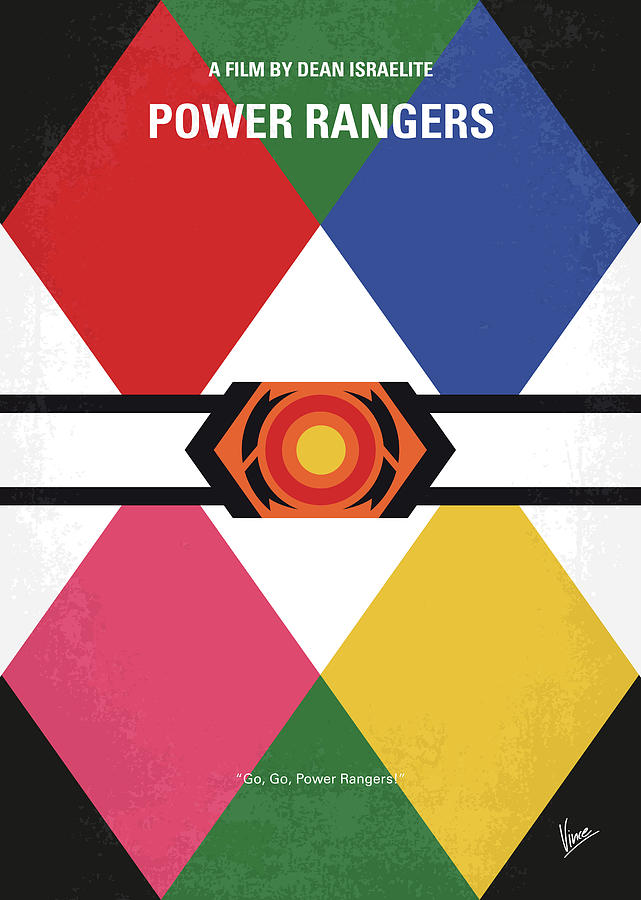 No1077 My Power Rangers minimal movie poster by Chungkong Art