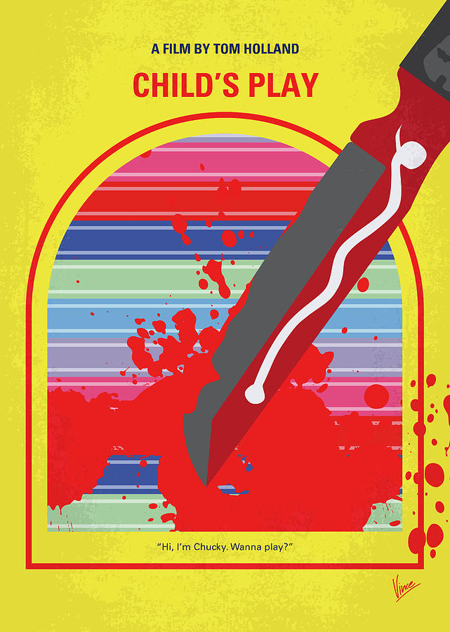 No1079 My Childs Play minimal movie poster by Chungkong Art