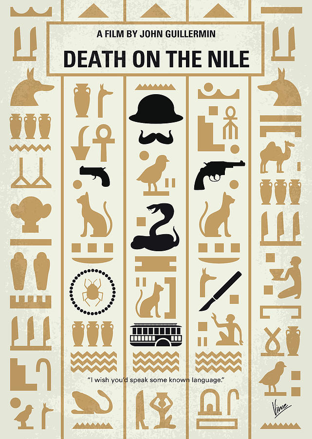 No1086 My Death on the Nile minimal movie poster by Chungkong Art