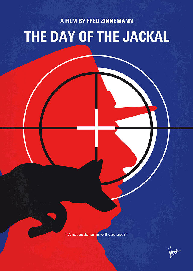 No1087 My The Day of the Jackal minimal movie poster by Chungkong Art