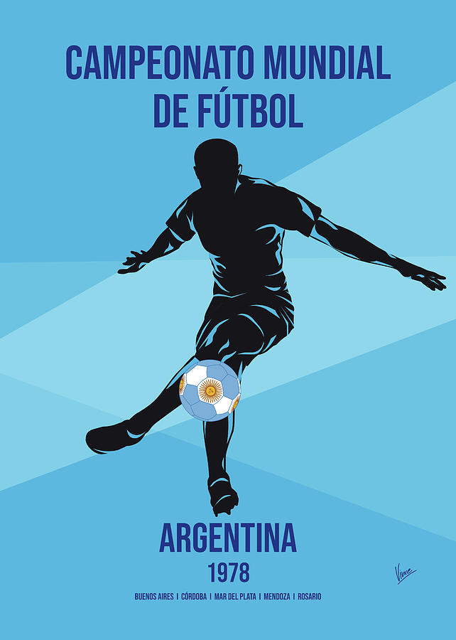 No11 My 1978 Argentina Soccer World Cup poster by Chungkong Art