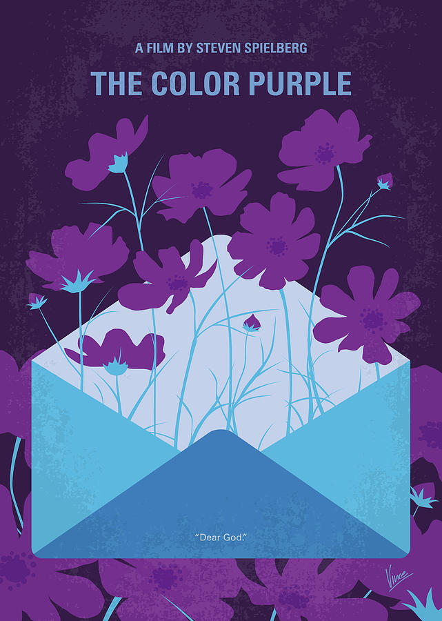 The Digital Art - No1109 My The Color Purple minimal movie poster by Chungkong Art