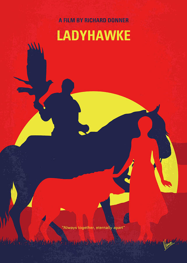 No1112 My Ladyhawke minimal movie poster by Chungkong Art