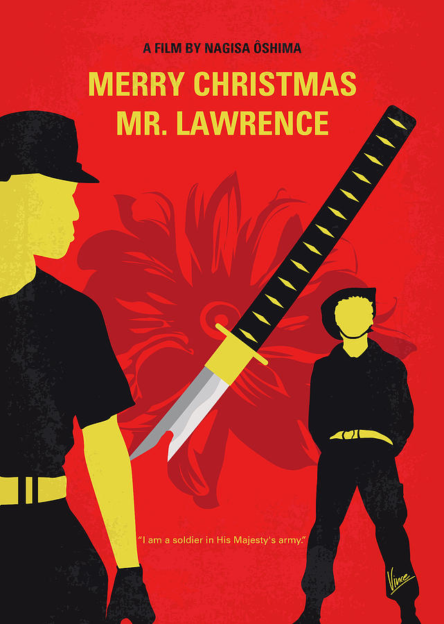 No1115 My Merry Christmas Mr Lawrence minimal movie poster by Chungkong Art