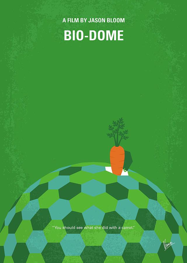 No1116 My Bio-Dome minimal movie poster by Chungkong Art