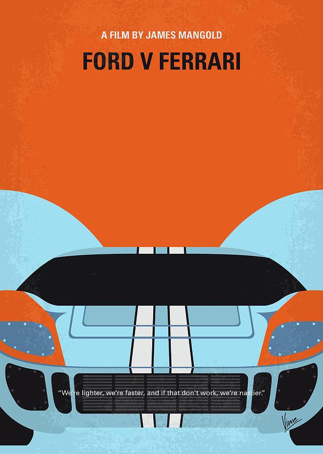No1121 My Lemans 66 minimal movie poster by Chungkong Art