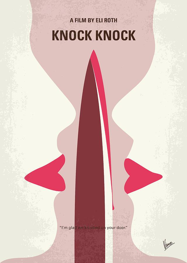 No1122 My Knock Knock minimal movie poster by Chungkong Art